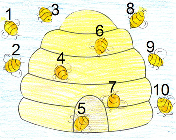 Bee Mini-lesson: Pre-Writing and Number Activities- UK Version (A4)