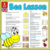 Bee Mini-lesson: Pre-Writing and Number Activities- UK Ver