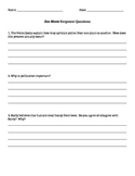 Bee Movie Response Questions