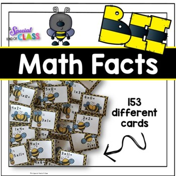 Bee Multiplication Flash Cards
