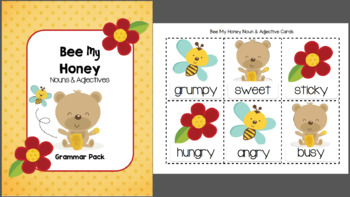 Bee My Honey Nouns and Adjectives Printable Pack