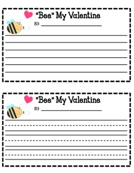 """Bee"" Mine (A Valentine's Day Writing Craft)"