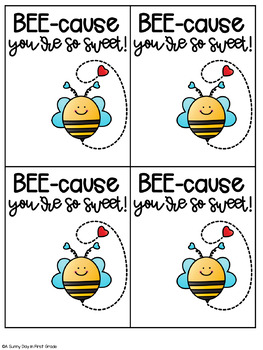 Bee My Valentine Gift Tag!