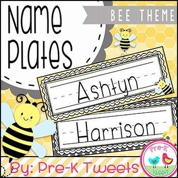 Bee Name Plates