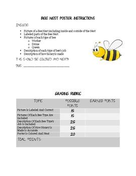 Bee Nest Poster
