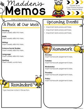 Bee Newsletter Template