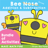 Bee Nose Fact Families Pack - Addition and Subtraction Inv
