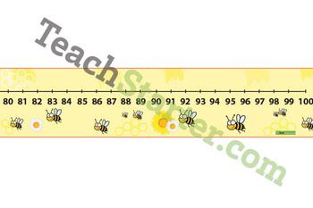 Bee Number Line 0-100