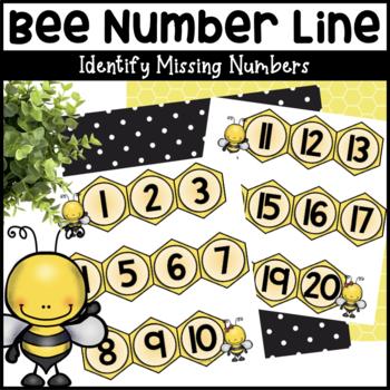 Bee Number Line #1-20