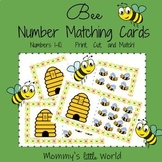 Bee Number Matching Cards