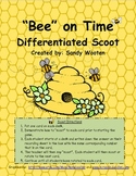 "1.MD.3, 2.MD.7, 3.MD.1 ""Bee"" On Time Differentiated Scoot or Task Cards"