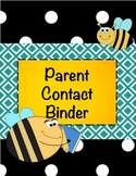 Bee Parent Contact Binder Free Printable