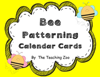 Bee Patterning Calendar Cards & Headers (4 Sets & 12 Months!)