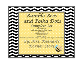 Bumble Bee and Polka Dots Complete Set