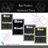 Bee Posters - Chalkboard theme