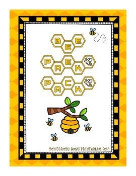 Bee PreK Printable Learning Pack