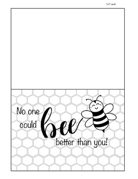 graphic about Printable Mothers Day Cards to Color named Bee Printable Moms Working day Card, Colour your particular, present, Joyful Moms working day, Mothers