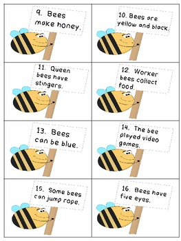 Bee Real or Make Believe Activity Pack
