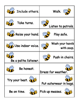 Bee Respectful, Responsible, Safe