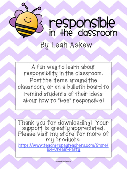 Bee Responsible in the Classroom