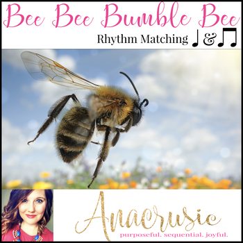 "Bee Rhythm Matching Freebie - Practicing ""ta"" & ""ti-ti"""