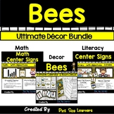 EDITABLE Bee Classroom Theme BUNDLE | Signs | Name Plates | Word Wall | Centers