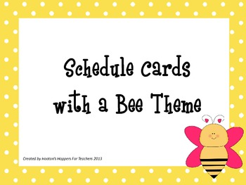 Bee Schedule Cards Add On Package