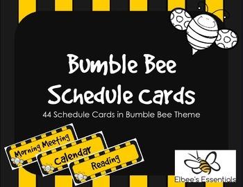 Bee Schedule Cards (2)