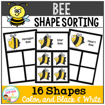 Shape Sorting Mats: Bee