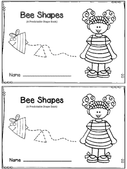 Bee Shapes - A Predictable Reader