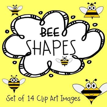 Bee Shapes Clip Art