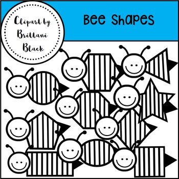 Bee Shapes~ Clipart