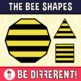 Bee Shapes Clipart