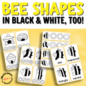 Bee Shapes for Hands-on Activities