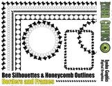 Bee Silhouette Borders
