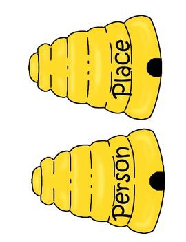 Bee Smart  A Noun Game and Noun Sort