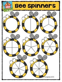 Bee Spinners {P4 Clips Trioriginals Digital Clip Art}