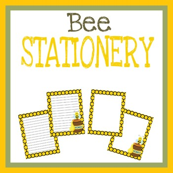 Bee Stationery, Spring Theme, Writing Paper, Printable Sheets, Notes