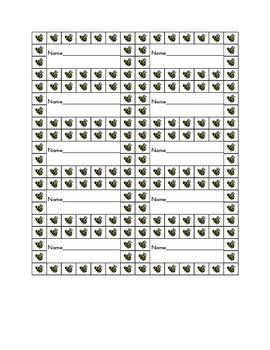 Bee Sticker Chart Freebie