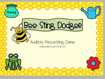Bee Sting Dodger! Auditory Processing Game