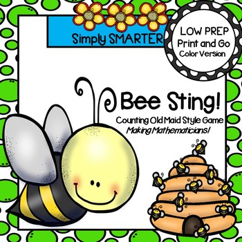 Bee Sting!:  LOW PREP Bug Themed Counting Card Game