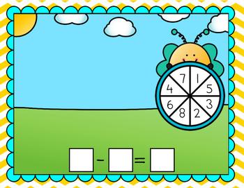 Bee Subtraction Spinner Mat
