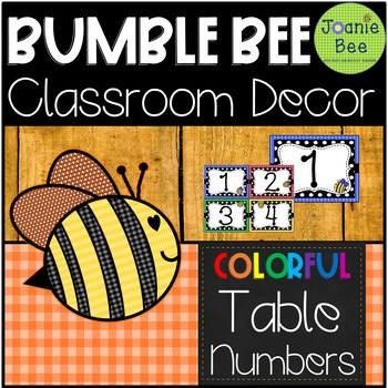 Bee Table Numbers