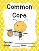 """Bee Teacher Binder Covers and 2"""" Spines"""