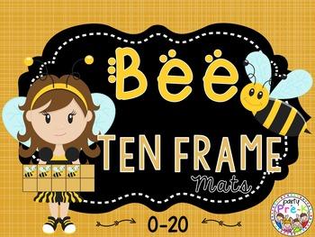 Bee Ten Frame Mats 0-20