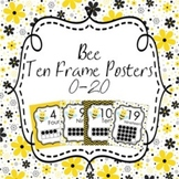 Bee Ten Frame Posters 0 - 20