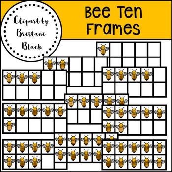 Bee Ten Frames~ Clipart
