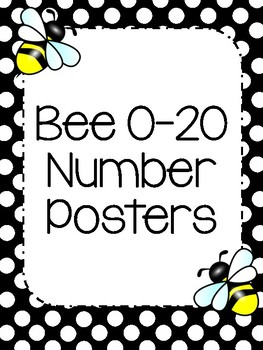 Bee Theme 0-20 Number Posters