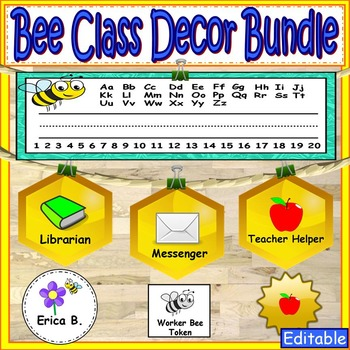Bee Theme Labels Classroom Decor
