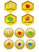 Bee Theme Labels Classroom Decor